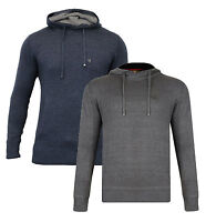 Ringspun New Men's Ribbed Cotton Overhead Hooded Thin Knit Jumper Top