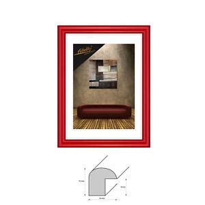 Bilderrahmen Kunststoffrahmen GLÄNZEND LACK 10x10 bis 40x50 cm Fotorahmen