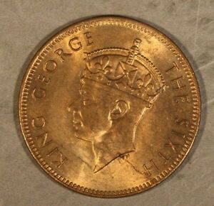 1948 Seychelles 2 Cents Nice Red Brown