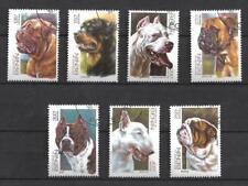 Chiens Bénin (6) série complète de 7 timbres oblitérés