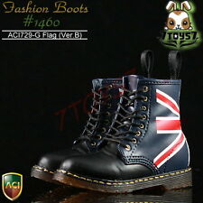 ACI Toys 1/6 Fashion Boots S2 1460_ Flag Ver.B 8 holes #729G _Bid   AT029H