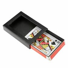 Card Box+Plastic Frame Amazing Magic Deck Disappearing Poker Vanishing Case