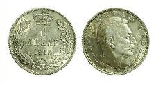 pcc1642_19) YUGOSLAVIA - SERBIA - PETER I° - 1 DINARA SILVER 1915