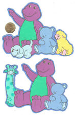 RARE! BARNEY AND FRIENDS FABRIC APPLIQUES - 2 PCS.