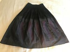 Beautiful! Japan Kiryu Textile Skirt Elastic Waist XS, S, M, L Black / Gray New