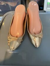 Used Rose Gold Pointed Toe Ballerina Pumps Size 5