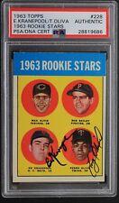 Ed Kranepool Pedro Oliva 1963 ROOKIE Stars Card Topps #228 Autographed PSA
