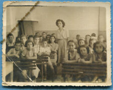 #34270  Greece 1940s. Pupils and teacher in the classroom. Photo