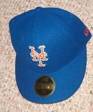 New Era New York Mets 59Fifty Bevel Low Profile Fitted Cap Hat 7 1/8