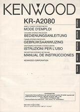 KENWOOD KR-A2080 - Bedienungsanleitung - B1999