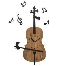 Invisible Cellist Playing the Cello Handcrafted Non Ticking Silent Wall Clock Mu