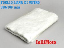 FOGLIO IN VERA FIBRA DI VETRO 500x700 mm MARMITTE SCARICHI MOTO SCOOTER 2T e 4T