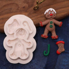 Xmas Silicone Mould Fondant Sugarcraft Chocolate Mold Cake Baking DIY Soap Mould