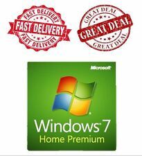 WINDOWS 7 HOME PREMIUM 32 / 64 BIT GENUINE LICENSE KEY  and Dell DVD