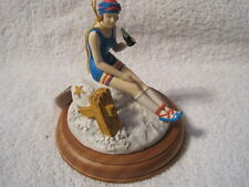 1990 Coca-Cola Willitts Vintage Girl Figurine Enjoying a Coke on Beach #39044