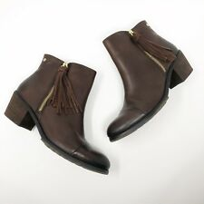 Pikolinos Sz 39 US 8.5 9 Brown Andorra Leather Fringe Tassel Boots Ankle Booties