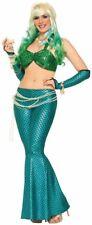Womans Adult GREEN MERMAID Bikini Top Shimmering Ariel Sea Fish Halter Costume