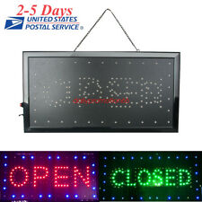 Open & Closed Led Sign Store Neon Business Shop Advertising Light On/Off Switch