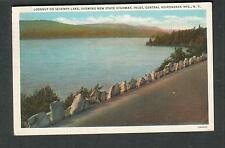 1936 post card Lookout on Seventh Lake Adirondack Mts Old Forge to Williamson NY