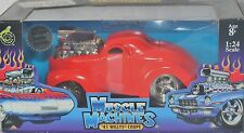 MUSCLE MACHINES 1941 WILLYS COUPE 1/24TH SCALE,NEW