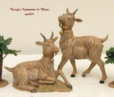 "Fontanini Depose Italy 12""Series 2Pc Goat 5""T Nativity Village Animals 52904 New"