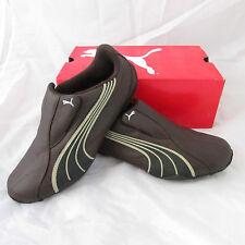 Puma Tergament Café-Negro-Safari-Astilla Zapatilla Zapato Talla 6 Reino Unido euro 39