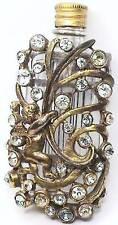 EXTREMELY RARE HATTIE CARNEGIE HC SIGNED CHERUB RHINESTONE PERFUME FUR CLIP PIN