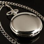 ESS Mens Pocket Watch Mechanical White See Through Hand-winding Chain Luxury
