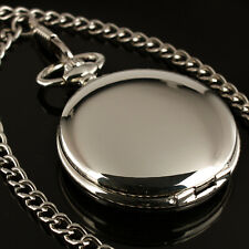 See Through Hand-winding Chain Luxury Ess Mens Pocket Watch Mechanical White