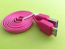 3Ft Micro USB 3.0 Samsung S5 A to Micro B Male Noodle Data Sync Charger Cable