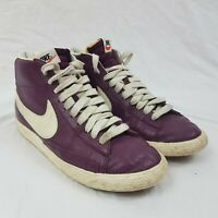Nike Blazer Leather Burgundy Red Hi Top Lace Up Trainers Size UK 6 EUR 40