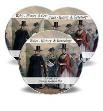 Wales History Books on 3 DVDs - Family Ancestry Genealogy Welsh Folk Culture L6