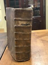 Early Printing Berleberg Bible Old Testament? Psalms 1730 Leather Rare