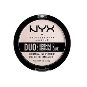 Nyx Duo Chromatic Illuminating Powder 6g - Snow Rose - New & Sealed - Free P&P