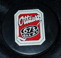 1970s OTTAWA 67'S VINTAGE  MAJOR JR. A VICEROY SLUG CANADA HOCKEY GAME PUCK OHA