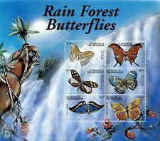 St. Vincent 2001 - SC# 2921 Rain Forest Butterflies, Monkey - Sheet of 6 - MNH