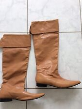 Boots Tan Leather Tall women's size 9 Pull ON