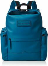 HUNTER Original Blue Rubberised Waterproof Leather Large Backpack - RRP £235