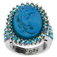 Kirks Folly LORELEI MERMAID DREAMSTONE RING SIZE 9    silvertone