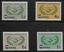 Ghana Scott #200-03, Singles 1965 Complete Set FVF MNH