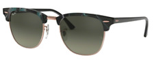 Ray-Ban Damen Herren Sonnenbrille RB3016 1255/71 49mm CLUBMASTER S I2