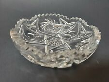 Vintage Clark Cut Crystal Glass Dish Antique Glassware Collectible Cut Glass