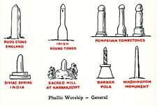 Phallic Worship Pagan Symbol Modern Postcard