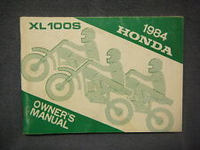 Honda XL100S 84 Owners Manual Original Rare XL 100 + More