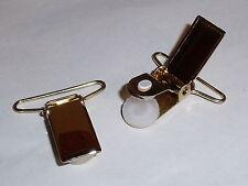 1 Paar Hosenträgerclip Clip Verschluss  30 mm gold  NEUWARE