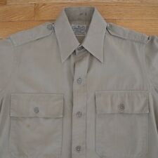 VINTAGE ORIGINAL WW2 MILITARY SHIRT REGULATION SHIRT 14 1/2