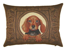 "18""x13"" Spaniel Dog Belgian Tapestry Cushion"