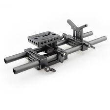 CAMVATE DSLR Camera Shoulder Rig Mount Kit Lens Support Baseplate 30cm 15mm Rod