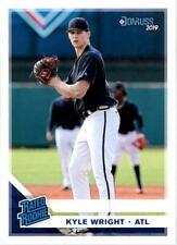 2019 Donruss Baseball #44 Kyle Wright Rated Rookie RC Atlanta Braves