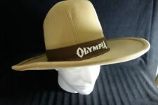 """Classic Western Hat-Tan -High Crown,Wide Brim- Sueded Finish- """"Olympia""""- VG-SALE"""